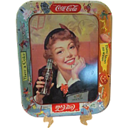 ''Thirst knows No season'' 50's Coke Tray - b69