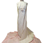 Ultra Mod 60's Bride Dress with Attached Train