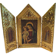 The Virgin with Child Made in Italy Gold Leaf Icon - b176
