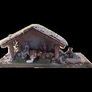 Snow Covered Nativity Scene - b177