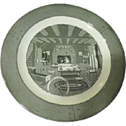 Royal China Green Colonial Homestead 13'' Round Chop Plate - g