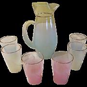 Blendo Aqua Pitcher and Pastel Glasses - b40