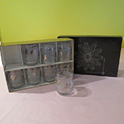Libby ''Silver Foliage'' Glasses in Box - b175
