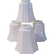 Art Deco Milk Glass Shades - b178