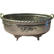 Hammered Aluminum Footed Planter - g