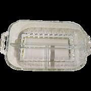 Cambridge Glass Chantilly 3 part Relish Dish - b109