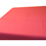 Shocking Pink Tablecloth with Lace Trim - L4