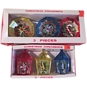 Jewelbrite Lantern and Decagon Diorama Christmas Tree Ornaments - b163