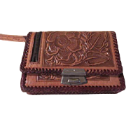 Sunflower Embossed Tooled Leather Hecho en Mexico Wallet - b180