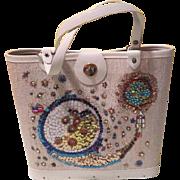 Sequined Snail 70's craft Handbag - b186