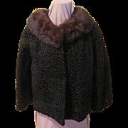 Mink Around the Collar Persian Lamb Jacket