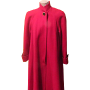 SOLD Really, Really Red Swing Coat