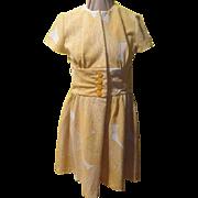 Optical illusion Yellow Circle Dress