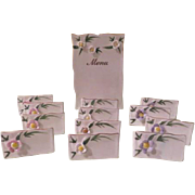 Applied Flower Menu and Place Cards - nsp