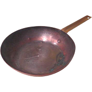 Copper Saute Pan with Brass Handle - g