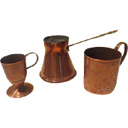 Copper Collection Mug, Cup and Warmer - b190
