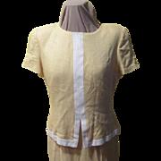 Linen Look 2-piece look Dress