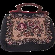 Textured Needlepoint Handle Handbag