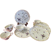 Violets are blue Luncheon Snack Set - b92