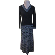 Silver Threads Among the Black Butte Knits Maxi Shirt and Top