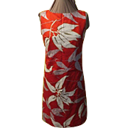 Red Hawaiian Printed Gary Jay Dress