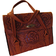 Rose in Bloom Tooled Leather Purse - b200