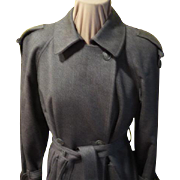 ''Forcaster'' Wool Trench Coat with  Taggs