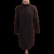 Back buttoned Black dress