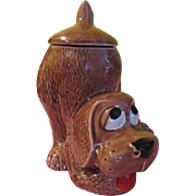 McCoy Thinking Puppy Cookie Jar - g