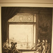 SALE Prince Henry's School of Navigation, Original Etching C. F. W. Mielatz