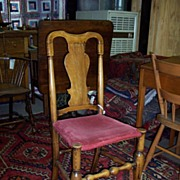 REDUCED Ca. 1710 Queen Anne Side Chair