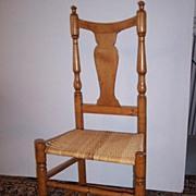 SALE American Maple Splat Back Side Chair  Ca.1790