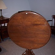 REDUCED Walnut Victorian Tilt-Top Tea Table