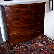 SALE Federal Mahogany Bow Front  5 Drawer Chest Ca. 1830