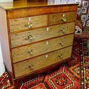 REDUCED Period English  Mahogany 5 Drawer Chest Ca. 1790