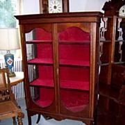 SALE Mahogany Sheraton China Display Cabinet Ca. 1890