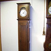 SALE French Morbier Oak Tall Case Grandfather Clock