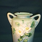 SALE Roseville White-rose Vase  988-10