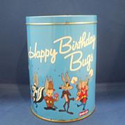 SOLD Bugs Bunny Happy Birthday Brach's Jelly Beans Tin