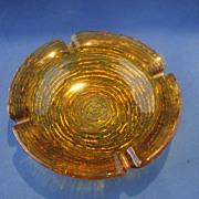 "SOLD Soreno Gold Ashtray 6 1/2"" Anchor Hocking"