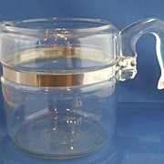 SOLD Pyrex Flameware Percolator Coffee Pot 6 Cup No Lid