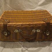 Willow Woven Picnic Hamper Basket Large