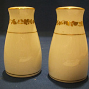Noritake Gold Ivy Vine Leaf Salt Pepper Shakers