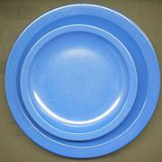 SOLD Royal Blue Texas Ware Salad Dinner Plates 8 Pcs