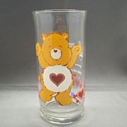 SOLD Care Bears Tenderheart Bear Pepsi Collector's Glass Libbey 1983