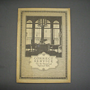 Correct Service  For the Formal and Informal Table Booklet Oneida Community 1923