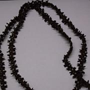 Hawaiian Koa Seed Brown Necklace 1960s