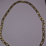 """Monet 26"""" Gold Tone Flat Heavy Figaro Chain Necklace"""