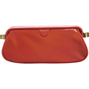 SOLD Stylemark Red Vinyl Clutch Attached Coin Purse