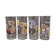 SOLD E.T. The Extra-Terrestrial Pizza Hut Glasses Set of 4 - Red Tag Sale Item
